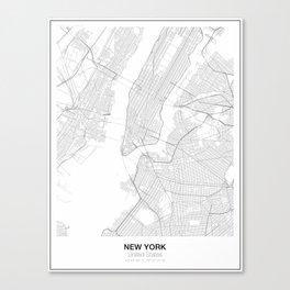 New York, United States Minimalist Map Canvas Print