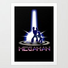 MEGATRON - Megaman | Tron | Nintendo | retrogames | 80's | vintage | retro | videogames | console Art Print