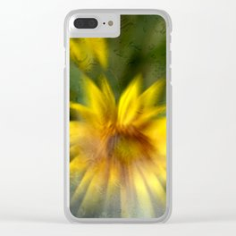 Concept flora : Foggy sunflower Clear iPhone Case