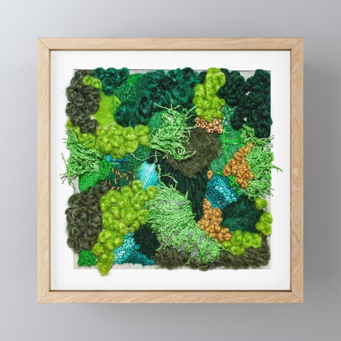 Moss Patch Framed Mini Art Print