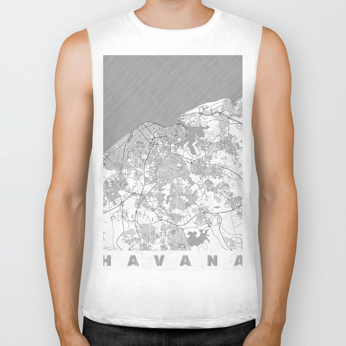 Havana Map Line Biker Tank