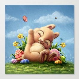 A little Easter bunny Canvas Print