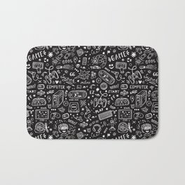 Video Games Pattern | Gaming Console Computer Play Bath Mat