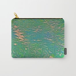 Irish Double Cabling Marbling Carry-All Pouch