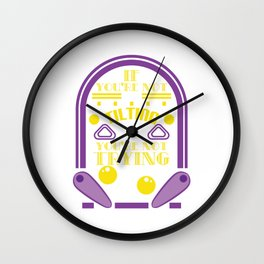 """Great t-shir5t design """"If You're Not Tilting You're Not Trying"""" A nice Saying to keep you Motivated Wall Clock"""