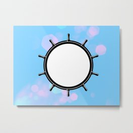 Cotton Candy Anchor Metal Print