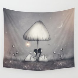 Little Talks At Twilight Wall Tapestry