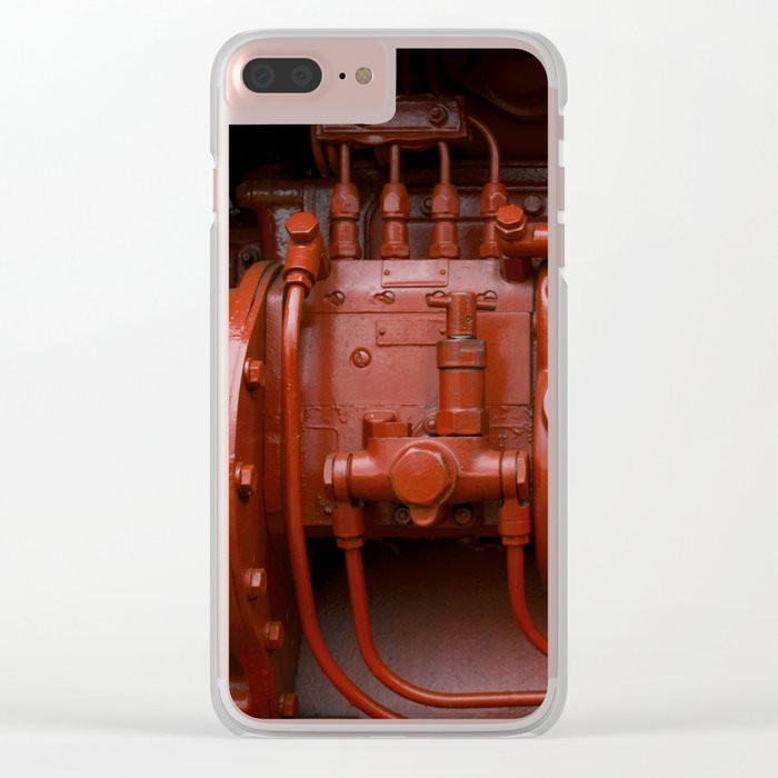 Red Tractor motor Clear iPhone Case