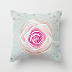 A Cup Of Rose Throw Pillow