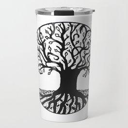"""Tree of Spring"" Hand-Drawn by Dark Mountain Arts Travel Mug"
