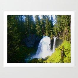 Gushing Waterfall Art Print