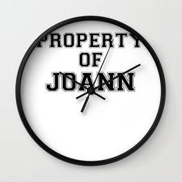 Property of JOANN Wall Clock