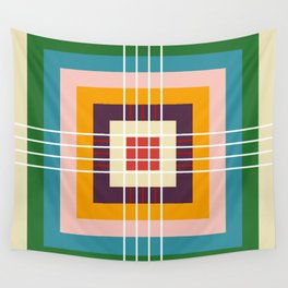 Retro Colored Abstract Shapes Wall Tapestry