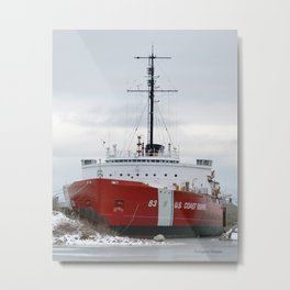 USCG Cutter Mackinaw 83 Metal Print