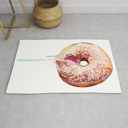 Pink Donut Sprinkles Rug