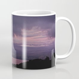 magenta sunset over lake te anau Coffee Mug