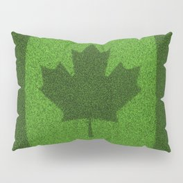 Grass flag Canada / 3D render of Canadian flag grown from grass Pillow Sham