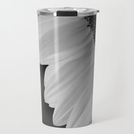 Black and White Sunflower Photography Print Travel Mug