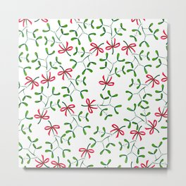 Meet me under the Mistletoe Metal Print