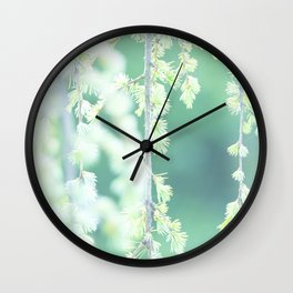 Little pine leaves - Nature Fine Art photography Wall Clock
