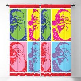 Santa Pop art Merry Christmas Blackout Curtain