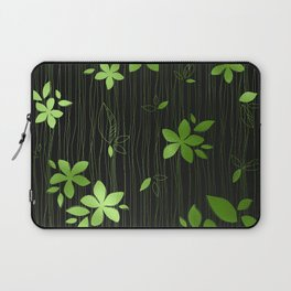 Colorful Art Deco Green Flower Pattern Laptop Sleeve