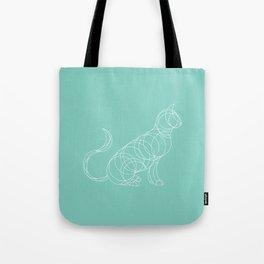 Geo Cat Mint Tote Bag