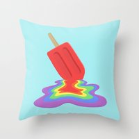 popsicle Throw Pillows featuring Popsicle by BTP Designs