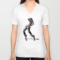hiphop V-neck T-shirts featuring B GIRL - vanguard style by ARTito