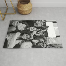 Family Watching an Event Rug