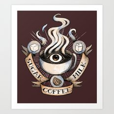 The Coffee Trinity Art Print