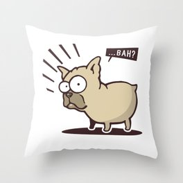Scared Dog! Throw Pillow