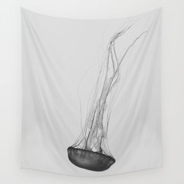 Black & White Jellyfish Wall Tapestry
