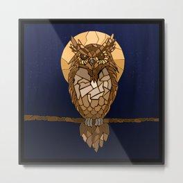 Mosaic Owl Metal Print