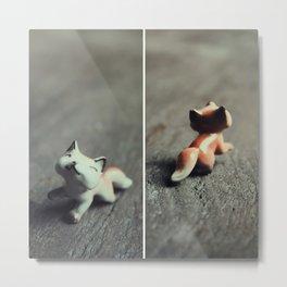 Heads & Tails (Fox) Metal Print