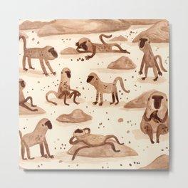 Baboons Metal Print