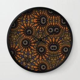 Staring eyes of weird mandalas Wall Clock