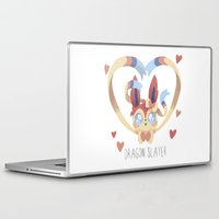 sylveon Laptop & iPad Skins featuring Dragon Slayer by Oh My Dog!