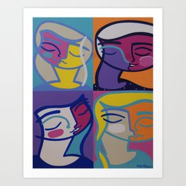 Cuatro Mujeres Art Print