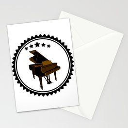 Vintage Piano Keyboard Music Player Stationery Cards