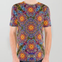 BBQSHOES™: Sun King Fractal Psychedelia Design All-Over Print Shirt All Over Graphic Tee