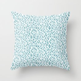 """Turquoise leopard pattern """"Leopold"""" Throw Pillow"""