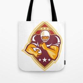 American Football Running Back Star Ball Tote Bag