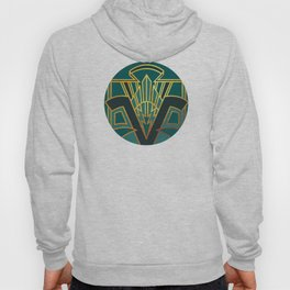 Art Deco Lightning In Turquoise Hoody
