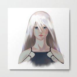 YoRHa A2 Metal Print