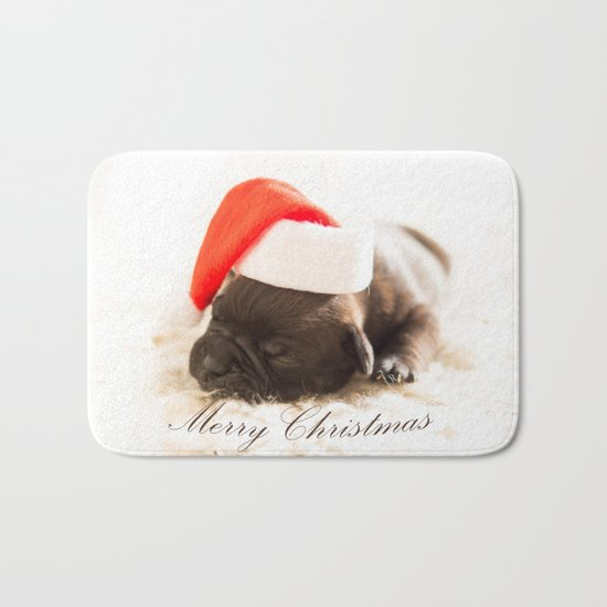 Cute Merry Christmas Bath Mat