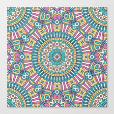 Pink Turquoise Pattern Canvas Print