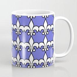 White fleur delis on bluebackground Coffee Mug