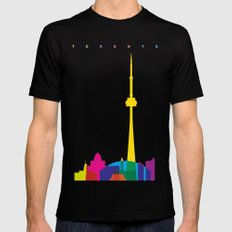 Shapes of Toronto. Accurate to scale 2X-LARGE Mens Fitted Tee Black