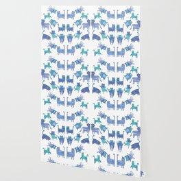 Blue Cats Wallpaper